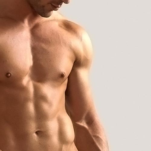 indică corpul unui bărbat pentru o erecție)